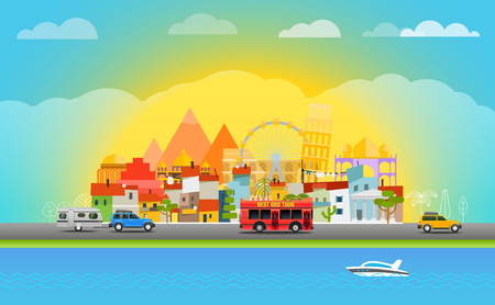 seacoast: Travel vector illustration