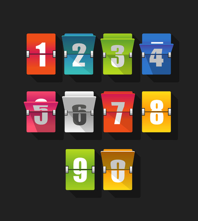 indicator panel: Colorful counter with digits