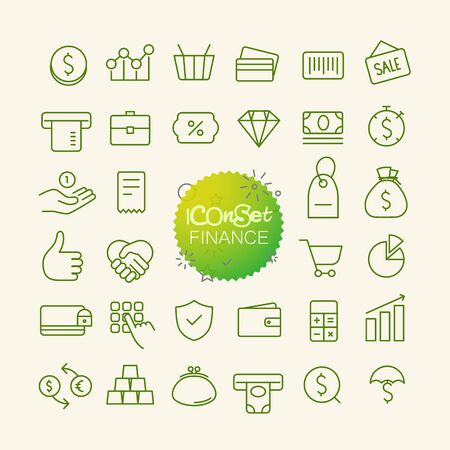 bankomat: Different trendy outline icons collection. Web and mobile app thin line icons