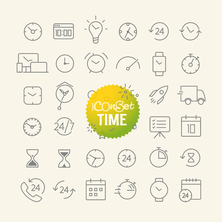 Different trendy outline icons collection. Web and mobile app thin line icons