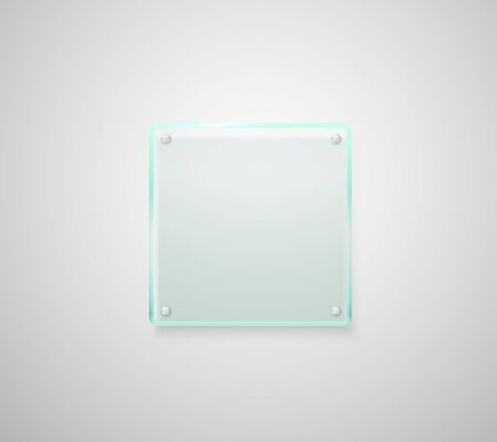 market place: Advertising glass board. Place your text