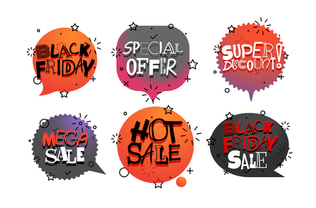 Different vector tags collection. Sale banners vector set Illustration