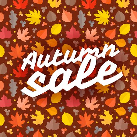 Autumn sale vector illustration. Season sale concept