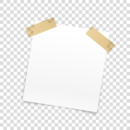 Blank paper frame isolated on transparent background Stock Illustratie