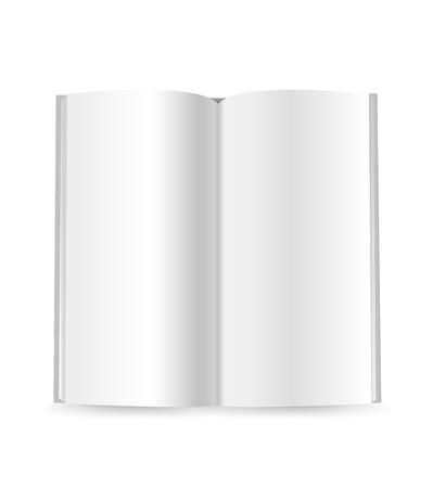 livret de vecteur de livret mince isolé sur blanc. prêt pour un contenu Vecteurs