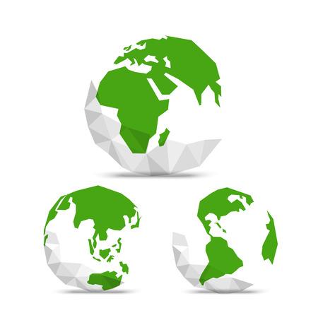 抽象的な世界地図が付いている地球。インフォ グラフィック テンプレート