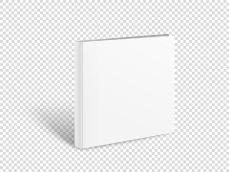 空白の正方形の本ベクトルモックアップ。透明に分離された紙の本