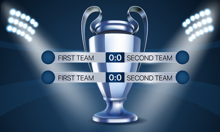 World soccer championship concept. Scoreboard with the cup Illustration