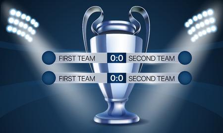 World soccer championship concept. Scoreboard with the cup Ilustração