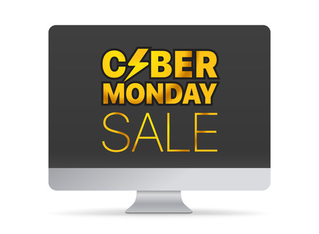 Modern computer with the messege. The Cyber Monday