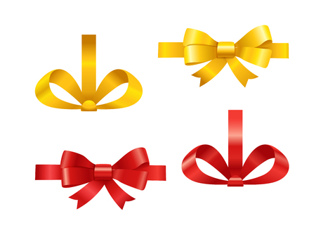 Vector ribbons set isolated on white. Different ribbons vector clipart Illustration
