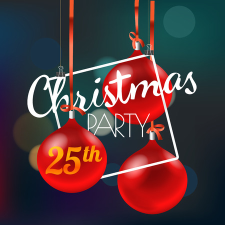 Christmas party announcement. Merry Christmas and Happy New Year