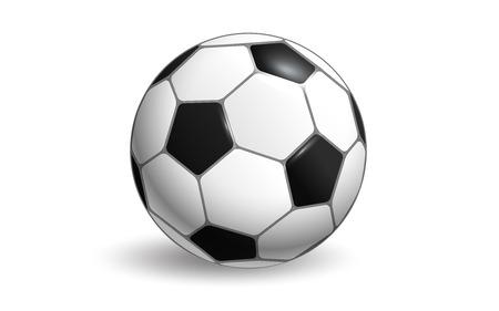 Diseño de vector de balón de fútbol aislado sobre fondo blanco