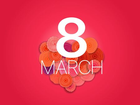 Happy 8th of March  Greeting card layout Vector banner template
