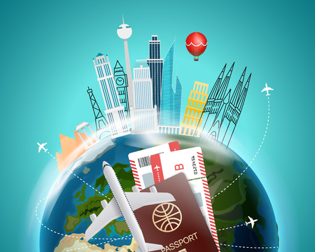 Travel destination concept. Vector illustration