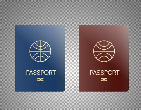 Modern passport design template Ilustração