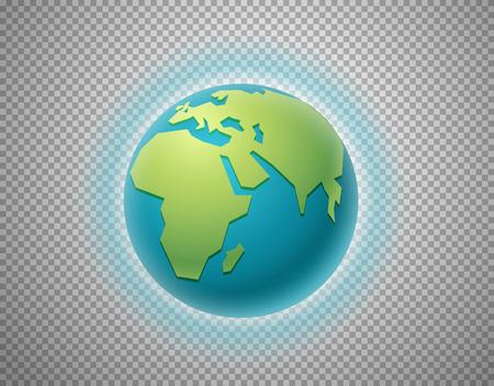 The Earth isolated on transparent background. Layered illustration Ilustração