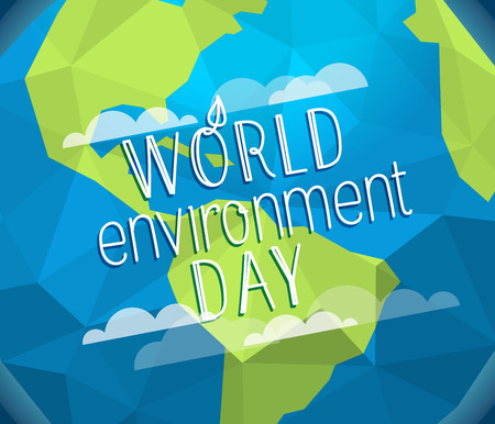 Happy world environment day card. Vector concept Illustration