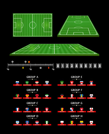 Football infographic elements. Soccer match statistics template