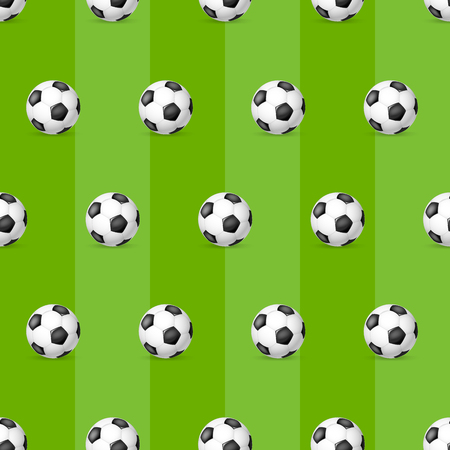 Classic soccer ball seamless pattern.  Football ball seamless pattern