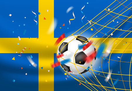 The winner of the match concept. Sweden wins