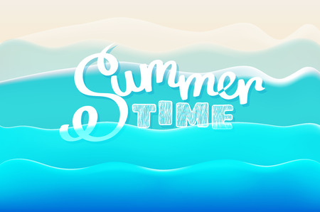 Summer time concept. Vector illustration