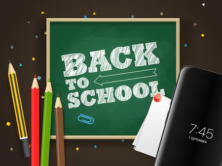 Back to school vector illustration Vectores