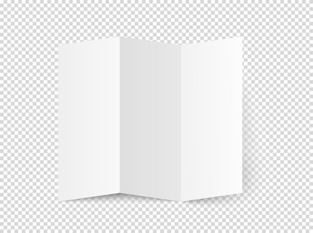 White blank booklet vector mockup. Vector object isolated on transparent background