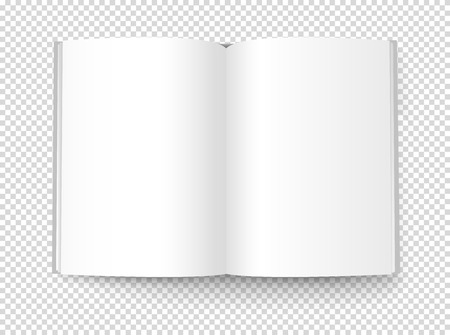 Blank book illustration. Vector object isolated on transparent background Vectores