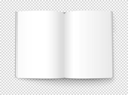 Illustration de livre blanc. Objet vectoriel isolé sur fond transparent