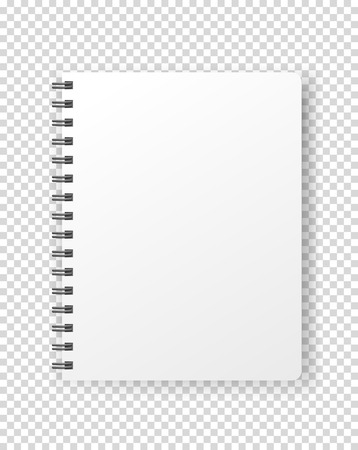 Notebook vector mockup. Vector object isolated on transparent background Иллюстрация