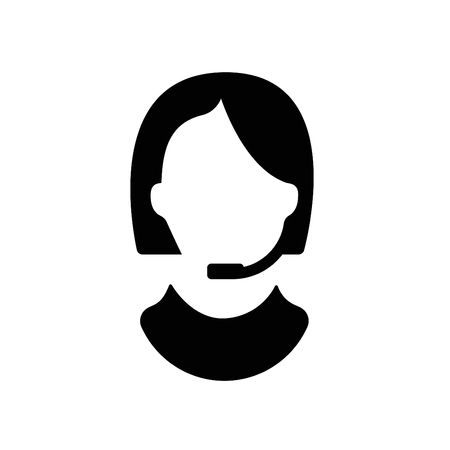 Customer support icon isolated on white background. Vector silhouette