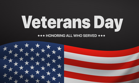 Veterans day. Honoring all who served. Vector illustration