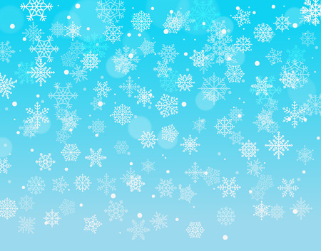 Winter background with snowflakes. Vector illustration