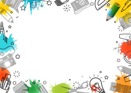 Kreativer Rahmen. Vektorgrafik-Hintergrund