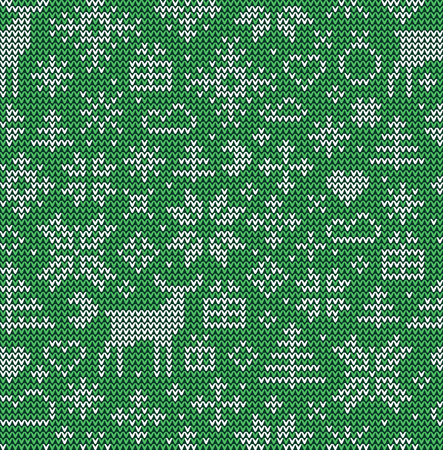 Christmas seamless pattern. Vector background