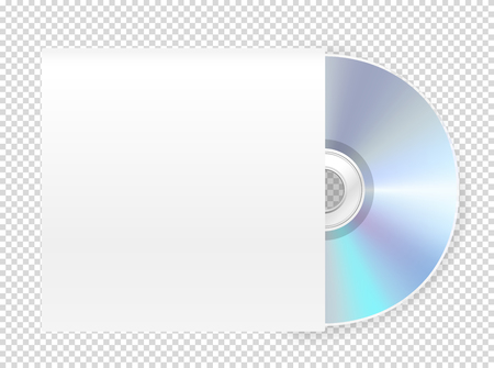 Modern cd-rom with cover vector mockup. Vector object isolated on transparent background