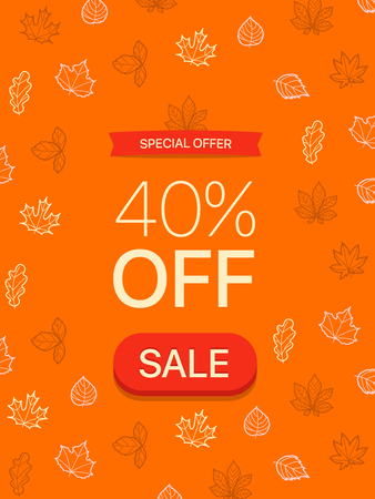 Special offer concept. Fourty percent off. Vector illustration