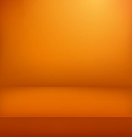 Orange illuminated stage. Vector illustration. Vertical advertising template