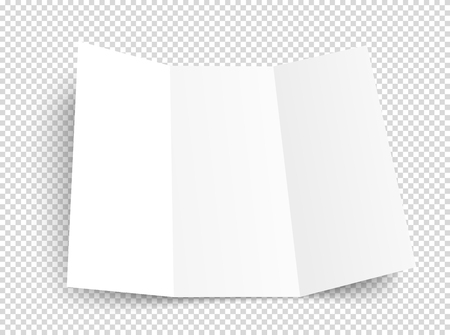 Blank booklet vector mockup. Vector object isolated on transparent background Иллюстрация