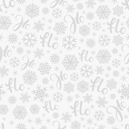 Santa says Hohoho. Vector pattern seamless texture for Christmas packaging Çizim