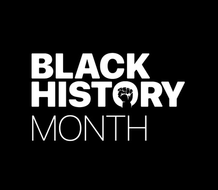 Black History Month with the fist. Vector illustration