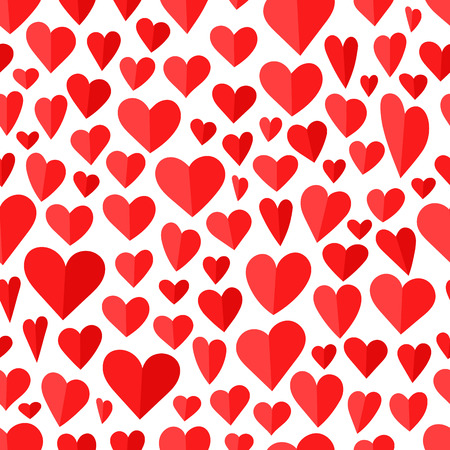 Vector seamless pattern of red hearts