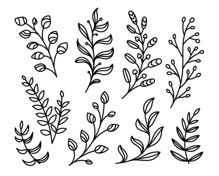 Happy Easter art elements. Vector elements for Easter banners, flyers, backgrounds