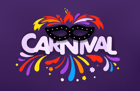 Masquerade vector concept. Carnival banner