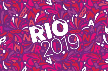 Rio 2019. Brazilian carnival design template