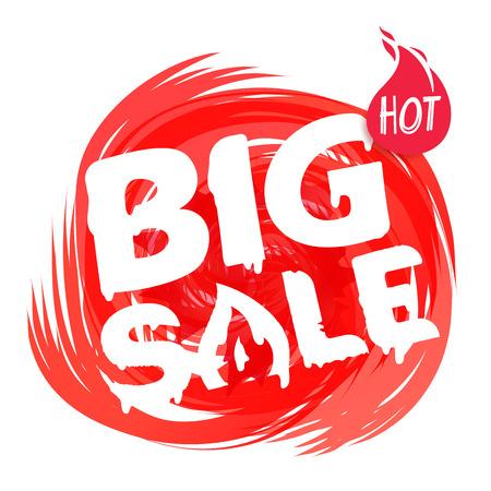 Big sale banner template. Discount banner template. Paint effect