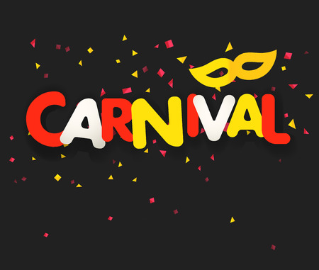 Brazilian traditional carnival concept. Festive banner vector template