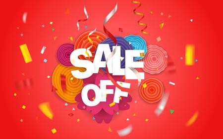 Season sale vector concept Illustration
