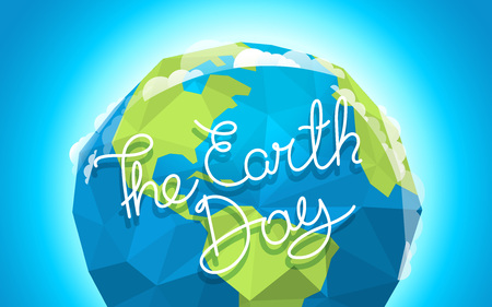 The Earth Day vector card Illustration